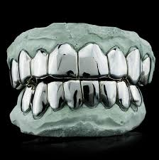 Shop Solid .925 Sterling Silver Diamond Cut Grillz On Sale ...