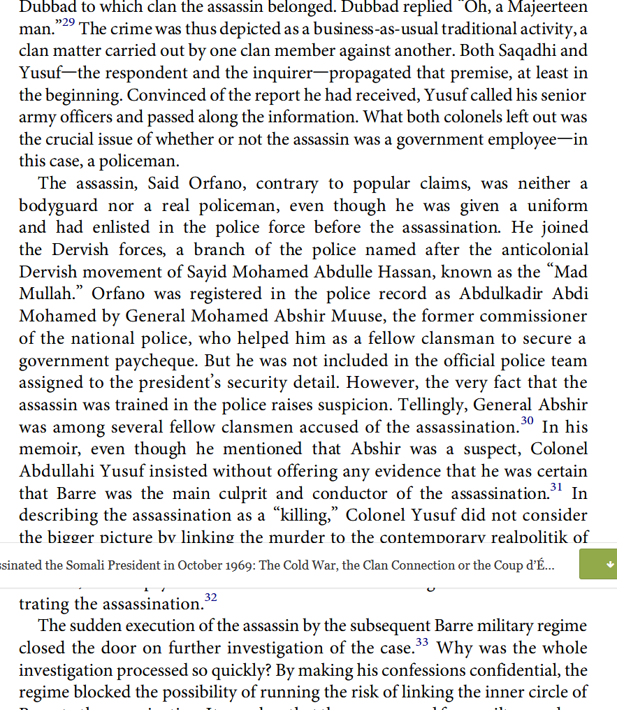 Assassinated the Somali President in October 1969 The Cold War, the Clan Connection or the Coup.png
