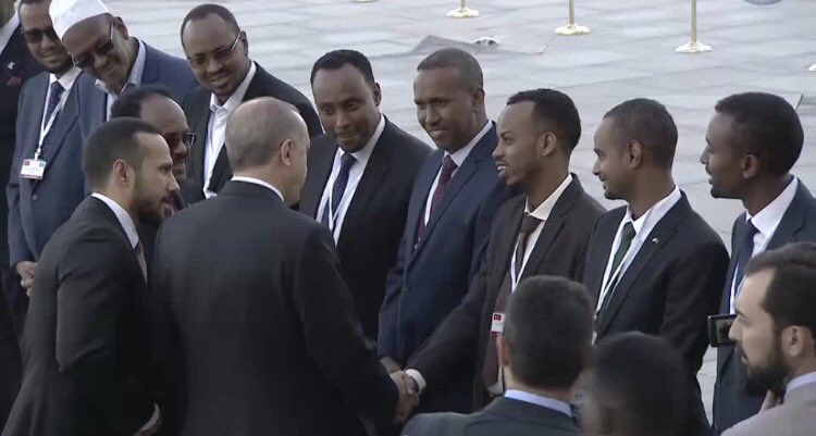 Farmaajo in Turkey with his cabinet | Somali Spot | Somali Forum ...